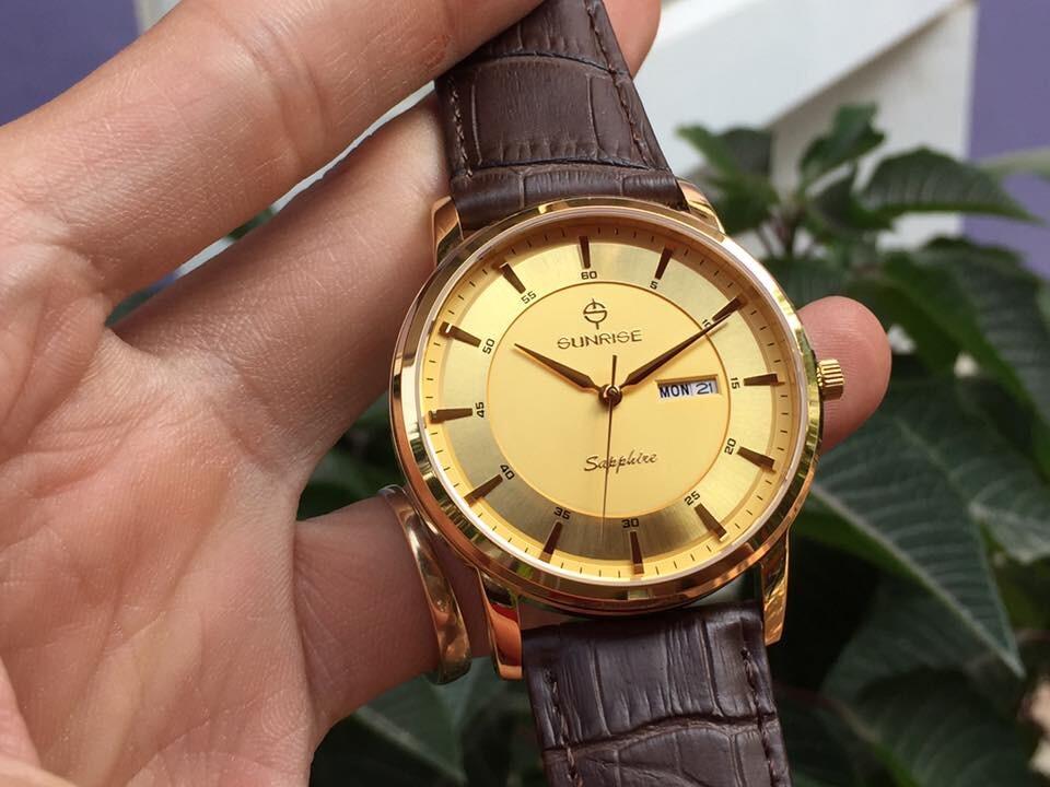 Đồng hồ nam sunrise dm780pwa - kv chính hãng