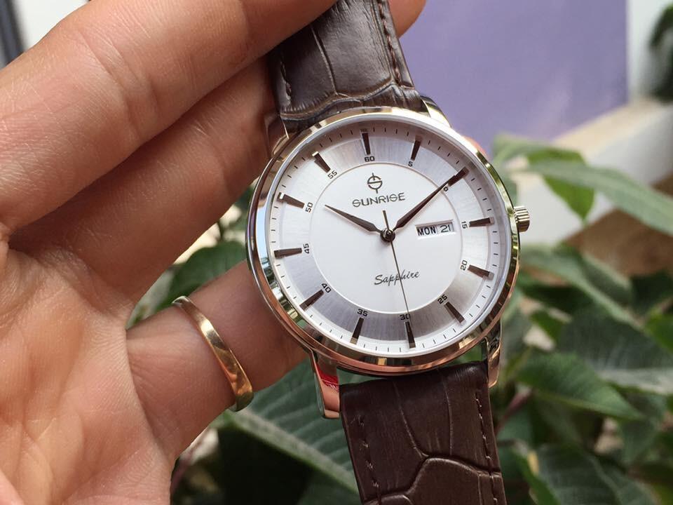 Đồng hồ nam sunrise dm780pwa - sst chính hãng