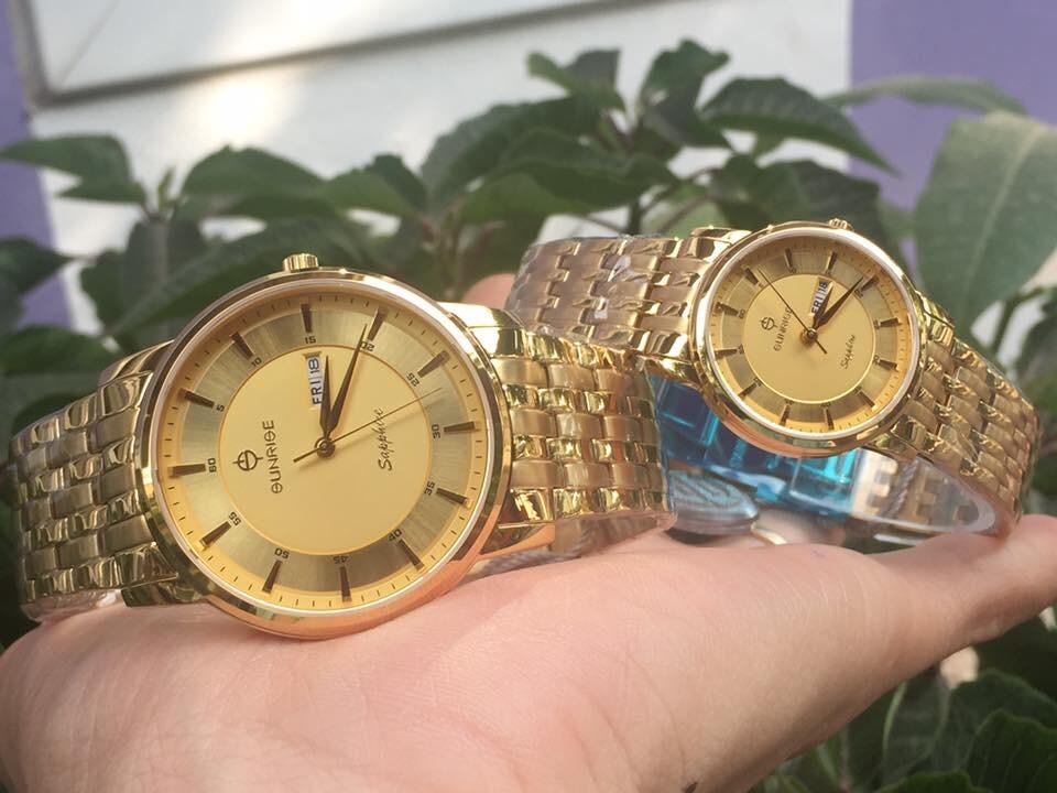đồng hồ đôi sunrise dm780swa