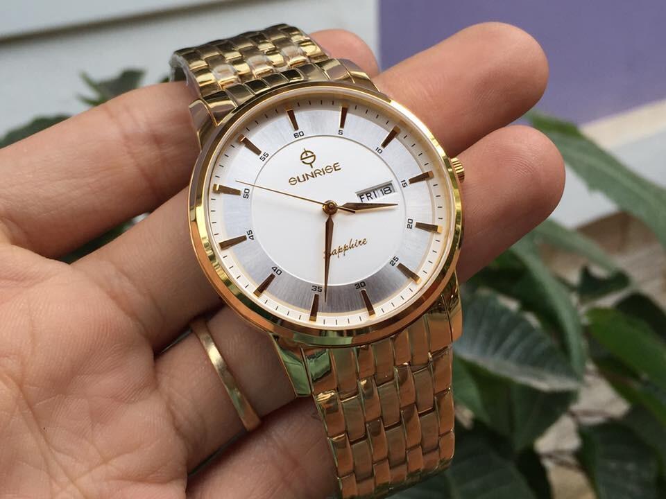 Đồng hồ đôi sunrise dm780swa - kt chính hãng