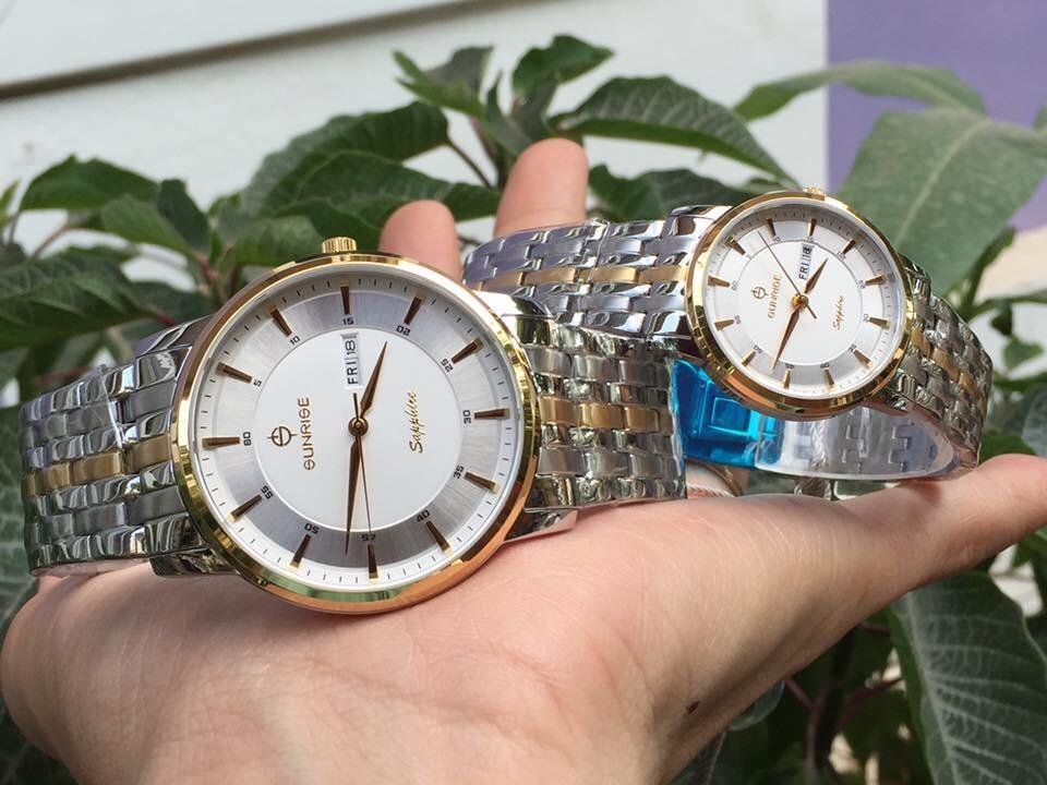 Đồng hồ đôi sunrise dm780swa - skt chính hãng