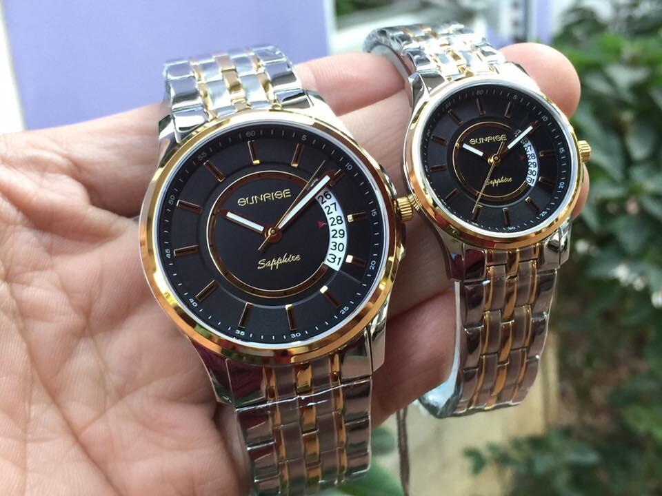 đồng hồ đôi sunrise dm781swa