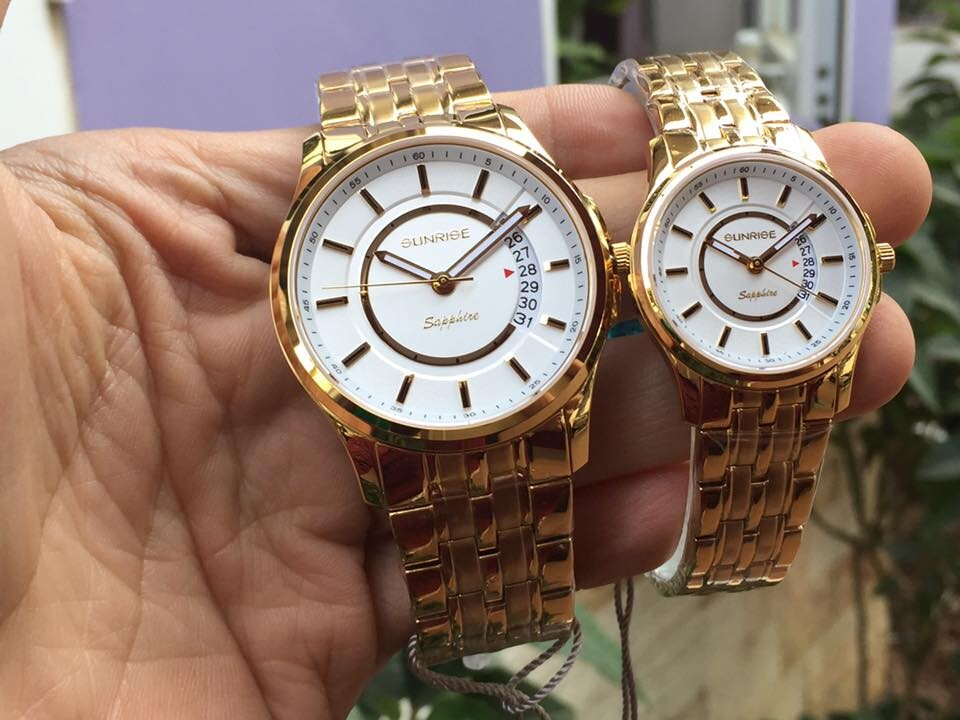 Đồng hồ đôi sunrise dm781swa - kt chính hãng