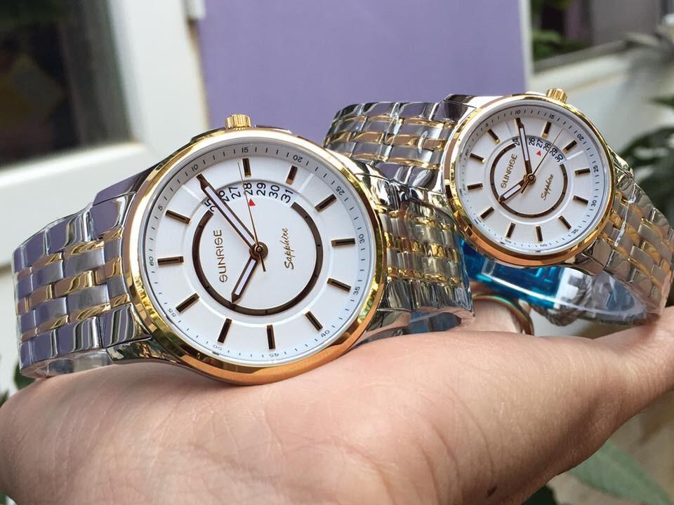 Đồng hồ đôi sunrise dm781swa - skt chính hãng