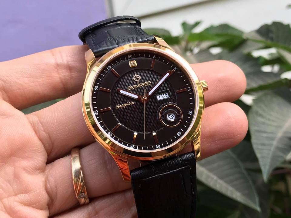 Đồng hồ nam chính hãng Sunrise DM782PWA - LG1A