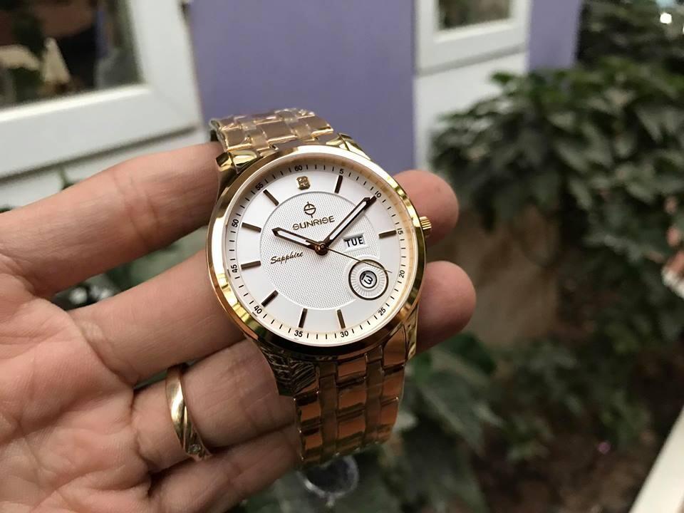 đồng hồ nam sunrise dm782swa - kt chính hãng   hieutin.com