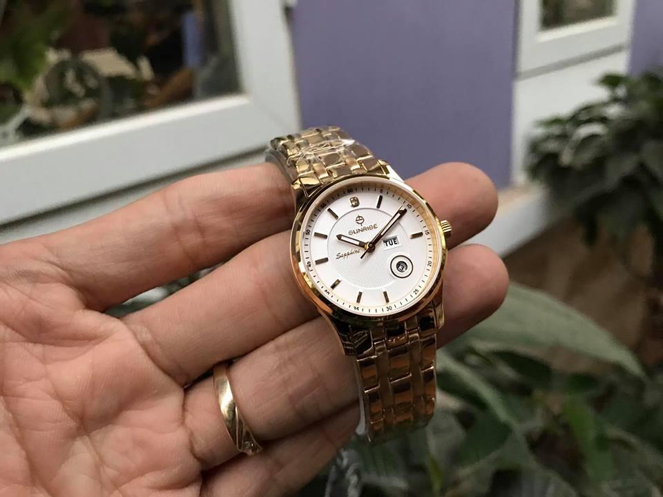 đồng hồ nữ sunrise dm782swa - kt chính hãng   hieutin.com