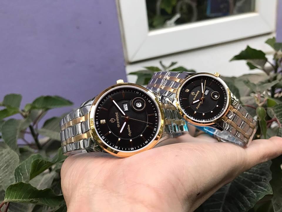đồng hồ đôi sunrise dm782swa
