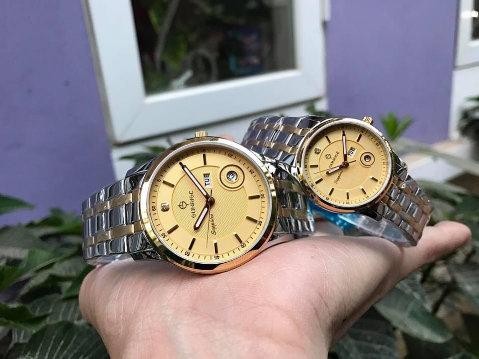 Đồng hồ đôi sunrise dm782swa - skv chính hãng