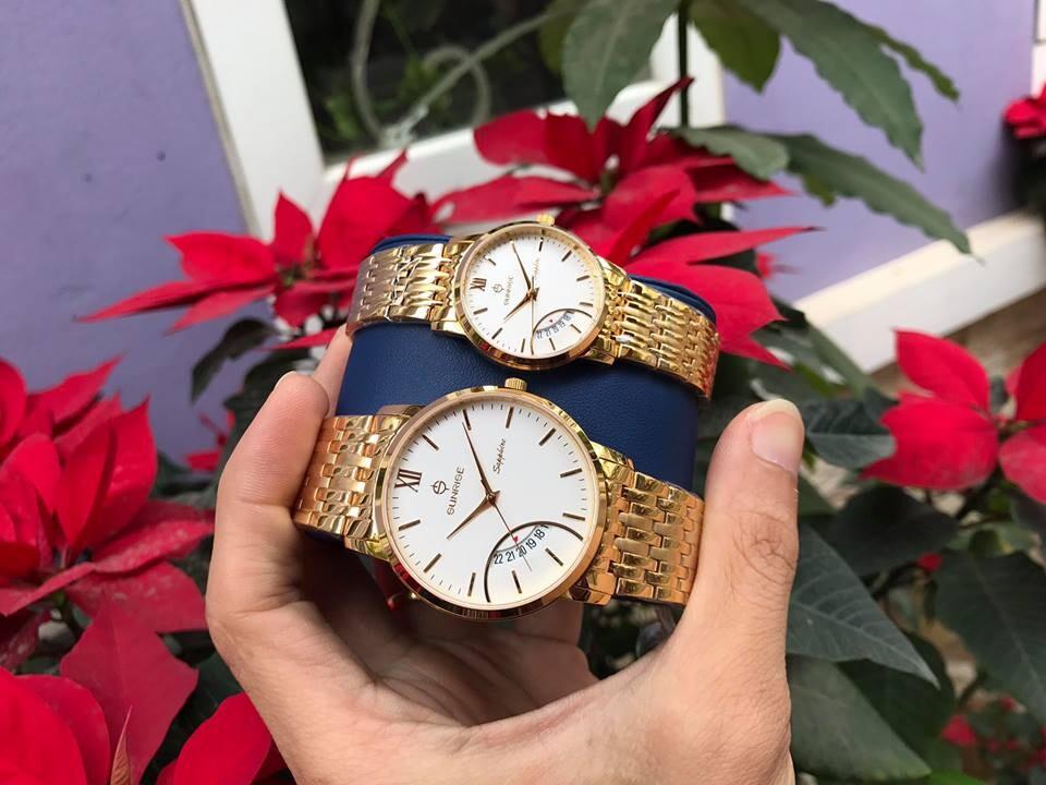 Đồng hồ đôi sunrise dm783swa - kt chính hãng