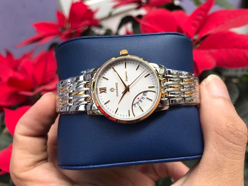 Đồng hồ nữ sunrise dm783swa - skt chính hãng
