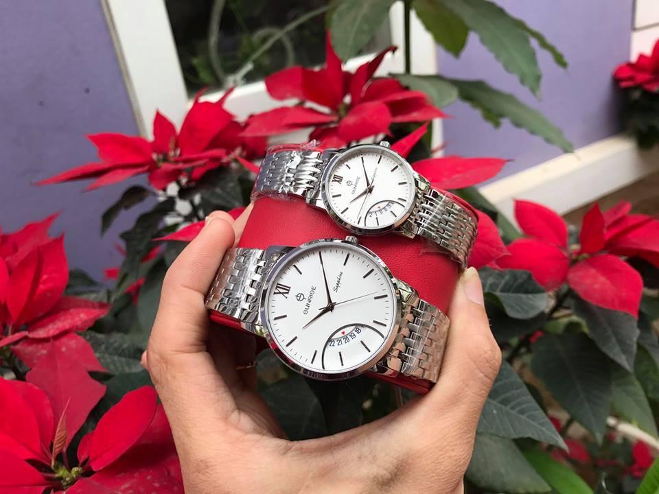 Đồng hồ đôi sunrise dm783swa - sst chính hãng