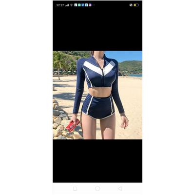 Đồ bơi nữ dây kéo trước ngực T024