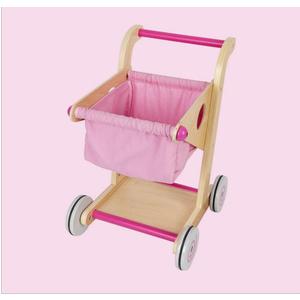 Đồ chơi gỗ Xe đẩy di động Babibo màu hồng GB5497