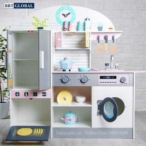 Đồ chơi mô hình BBT GLOBAL - Bộ đồ chơi nấu ăn gỗ BBT Global cao cấp - MSN19033