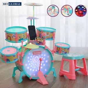 Đồ chơi mô hình BBT GLOBAL - Bộ trống đồ chơi kèm đàn cho bé cỡ lớn nhiều chức năng - Q532A