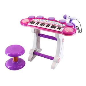 Đồ chơi mô hình BBT GLOBAL - Đàn organ có ghế ngồi hồng - BB383D