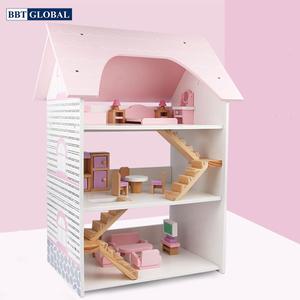 Đồ chơi mô hình BBT GLOBAL - Đồ chơi ngôi nhà búp bê bằng gỗ cao cấp - MSN19004