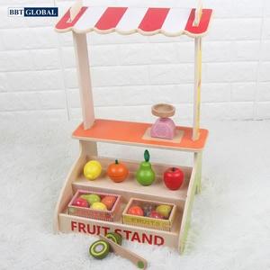 Đồ chơi mô hình BBT GLOBAL - Đồ chơi quầy bán trái cây bằng gỗ - MSN15023