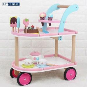 Đồ chơi mô hình BBT GLOBAL - Đồ chơi xe đẩy bánh ngọt BBT Global gỗ cao cấp - MSN17076