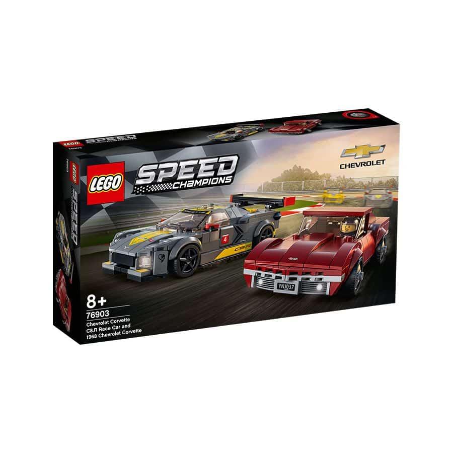 Đồ chơi mô hình LEGO SPEED CHAMPIONS - Siêu Xe Đua Chevrolet Corvette C8.R & 1968 Chevrolet Corvett - 76903