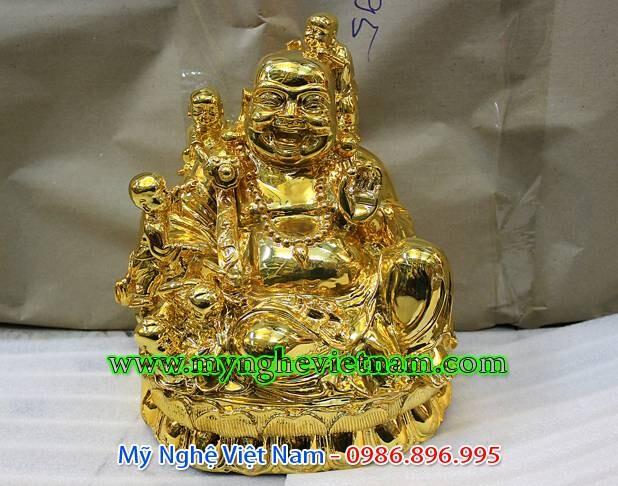 Tượng Phật Di Lạc mạ vàng 15cm