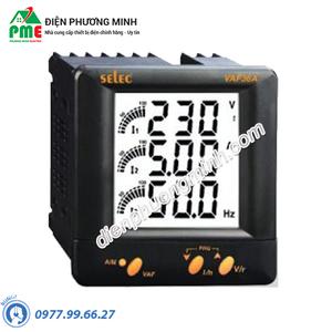 Đồng hồ đo điện áp, dòng điện và tần số Selec - Model VAF36A (96x96)