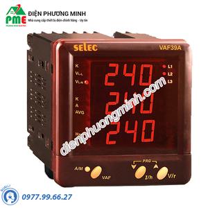 Đồng hồ đo điện áp, dòng điện và tần số Selec - Model VAF39A (96x96)