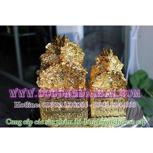 Ấn rồng thăng quan bằng đồng mạ vàng cao cấp