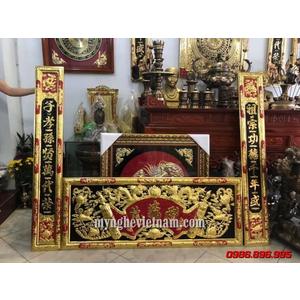 Bộ đại tự câu đối đồng Đức Lưu Quang dài 1m55
