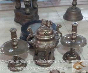 Đồ thờ cúng bằng đồng - Đỉnh đồng - Lư hương đồng - Đồ đồng thờ