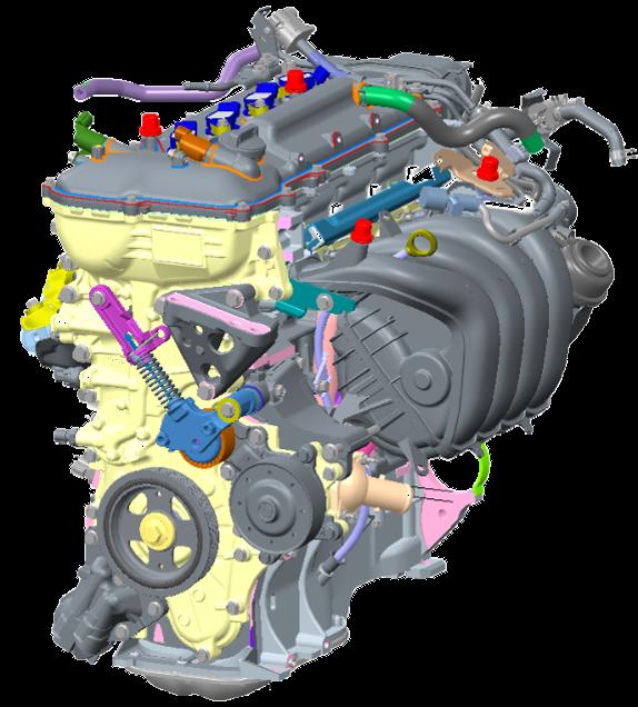 Động cơ xăng 1.8L trang bị trên bản Cross 1.8V xăng cao cấp