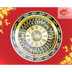 Đồng hồ bản đồ mặt trông đồng quà tặng tân gia,khai trương cửa hàng