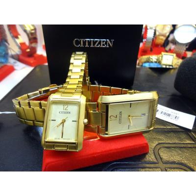 Đồng hồ cặp đôi chính hãng Citizen BD0032-55P - ER0192-55P