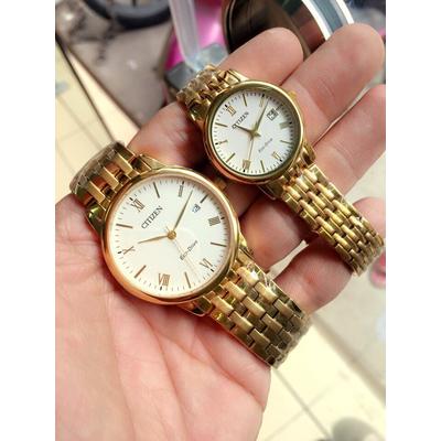 Đồng hồ cặp đôi Citizen Eco-Drive BM6772-56A - EW1582-54A