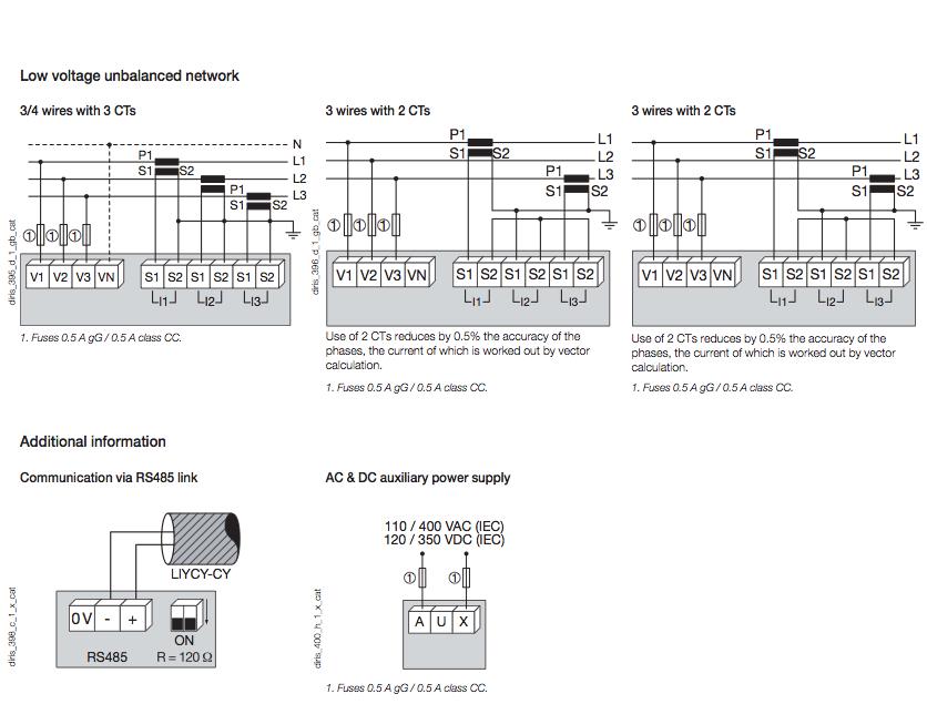 Đồng hồ đa năng Diris A20 + RS485