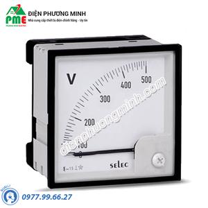 Đồng hồ đo điện áp Selec, dạng analog - Model AM-V-3-N (96x96)