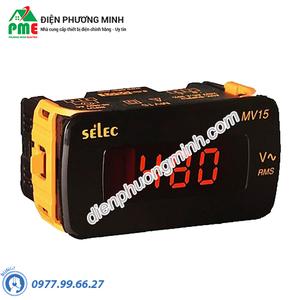 Đồng hồ đo điện áp Selec - Model MV15-AC-200/2000mV (48x96)
