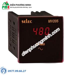 Đồng hồ đo điện áp Selec - Model MV205 (72x72)