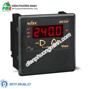 Đồng hồ đo điện áp trung và hạ thế Selec - Model MV334 (96x96)