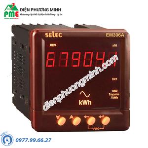 Đồng hồ đo điện năng tiêu thụ KWh Selec - Model EM306-A (96x96)