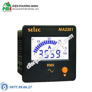 Đồng hồ đo dòng điện 3 pha Selec - Model MA2301 (72x72)