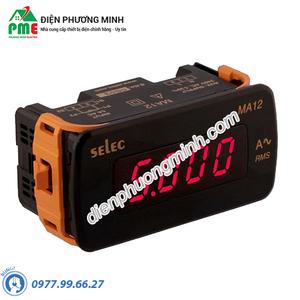Đồng hồ đo dòng điện AC trực tiếp Selec - Model MA12-AC-200/2000mA (48x96)