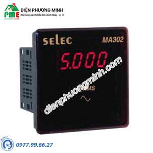 Đồng hồ đo dòng điện AC trực tiếp Selec - Model MA302-20A-AC (96x96)
