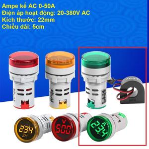 Đồng hồ đo dòng điện Ampe kế điện tử 0-50A
