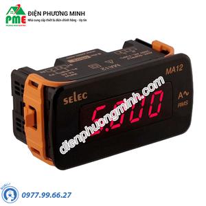 Đồng hồ đo dòng điện DC Selec - Model MA12-75mV-DC (48x96)