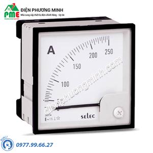Đồng hồ đo dòng điện Selec, dạng analog - Model AM-I-3-600/5A (96x96)