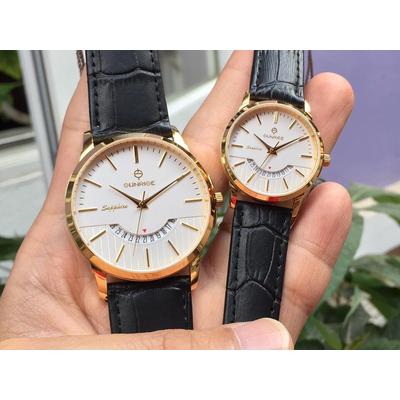 Đồng hồ đôi sunrise dm779pwa - kt chính hãng