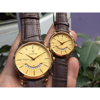 Đồng hồ đôi sunrise dm779pwa - kv chính hãng