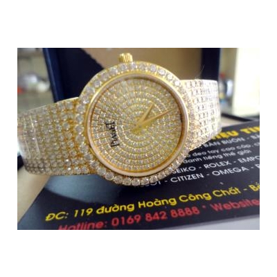 Đồng hồ nam cao cấp Piaget diamond Gold G0a04194